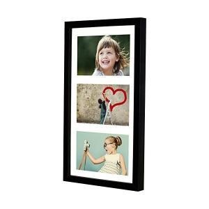 額縁 多面 多窓 7x14インチ(18x35cm)- 3 - KGのサイズ 4x6インチ(10x15cm)写真用アパーチャー写真フォトフレーム、ブラ|adnext