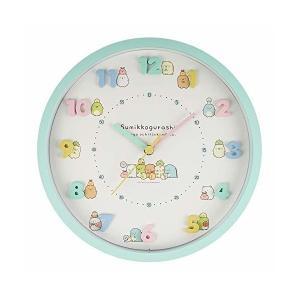 すみっコぐらし 掛け時計 いつものすみっコ アナログ 連続秒針 直径30cm グリーン|adnext