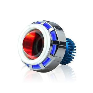RACBOX バイク用LEDヘッドライト イカリング 12V 2200LM プロジェクターイカリング 冷却ファン内蔵 防水対応 1年保証|adnext