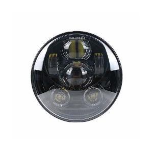 最新型のLEDヘッドライト5 3/4インチ ハーレー プロジェクター インナーブラック ハーレー ダビッドソン用5.75インチ LEDヘッドライトラ|adnext