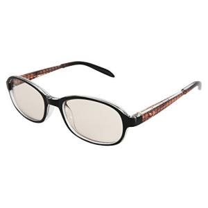 不二貿易 パソコン用メガネ ブルーライトカット レッド 子供用 オーバル 12112