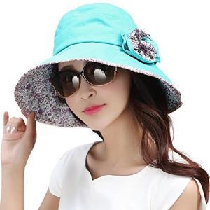 uvカット帽子 レディース 日よけ帽子 つば広 ハット 日除け防止 日焼け止め 紫外線対策 婦人用 ...