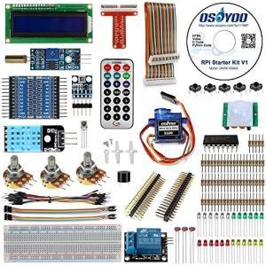 OSOYOO(オソヨー) Raspberry Pi 学ぶ電子工作キット 初心者演習用パーツセット ラズパイ11実例 回路配線図とサンプルスケッチ有り
