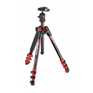 Manfrotto コンパクト三脚 Befree アルミ ボール雲台キットNEWデザイン レッド M...