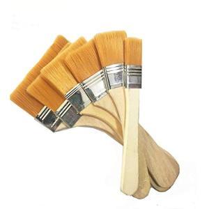 油絵用筆 ブラシペイント 木製 高品質 水彩筆 ペイント刷毛 画材筆 画材具 子供落書き用筆 6本セ...
