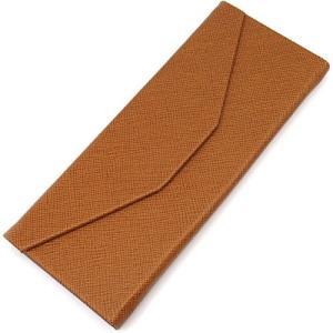 三角 折りたたみ メガネ ケース シンプル 収納 便利 コンパクト (レザー調 ブラウン)