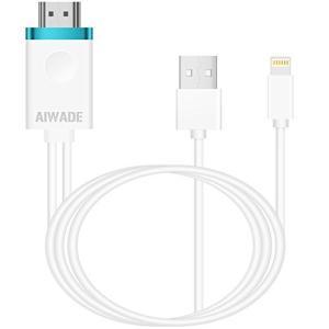 アイフォンHDMI変換ケーブル Lightning to HDMI接続アダプタ iPhoneテレビ変...