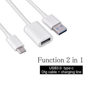 Fosa  2 in 1  USB3.1 Type-CオスUSB-Aオス&USB 3.0メスOTGハ...