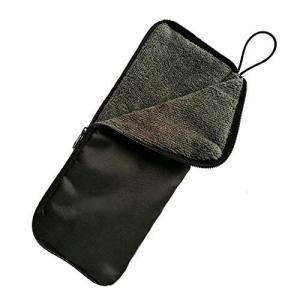 吸水折り畳み傘カバー マイクロファイバー 折りたたみ傘カバー 防水ファスナー 傘 ケース 28cm ...