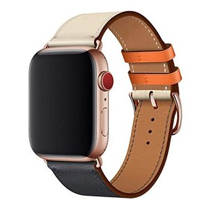 WFEAGL コンパチブル Apple Watch バンドは本革レザーを使い、iWatch Seri...