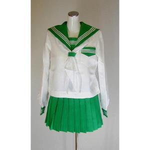 冬カラーセーラー服上下セット(グリーン)|ado-osaka
