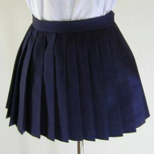 冬・紺プリーツスカート(30cm丈)|ado-osaka