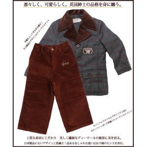 子供服 送料無料 フォーマルツイードジャケット&刺繍入りコーディロイパンツのセット 男の子 キッズ 95cm 100cm no.370 adorable