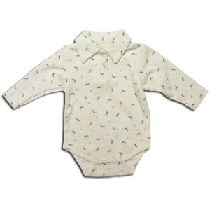 セール ぴよちゃん模様のシャツスタイルカバーオール(濠Du)子供服 60cm|adorable