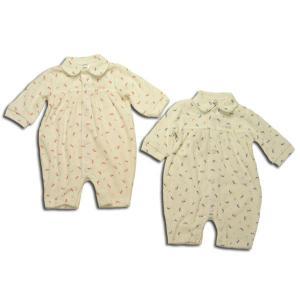セール ぴよちゃん模様の長袖カバーオール(濠Du)子供服 60 85cm|adorable