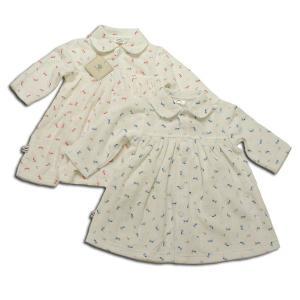 子ども服 ぴよちゃん模様の柔らかワンピース(濠Du)子供服 60 70 80 95cm|adorable