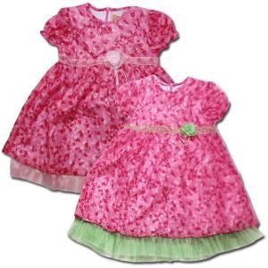 f87e2eb165c82 ピンクドール ふんわりパステルの花柄シフォンワンピース(濠Du)子供服結婚式 発表会 ドレス