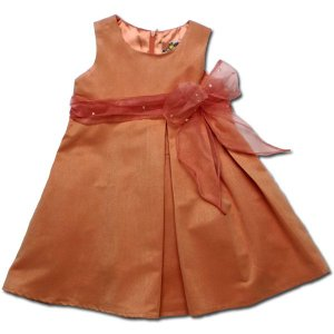 ワンピース 85cm オレンジ 子供服 春夏 美しきジョイス ふんわり広がるシルエットが可愛いドレス(濠Du)ベビー  フォーマル|adorable