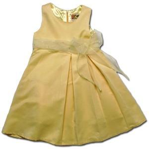 ワンピース 85cm 春夏  美しきジョイス ふんわり広がるシルエットが可愛いドレス (濠Du)イエロー  結婚式 フォーマル ベビー|adorable