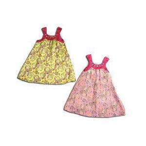 活発な美少女 夏のトロピカルな雰囲気を醸し出すワンピースドレス(濠Du)子供服 adorable