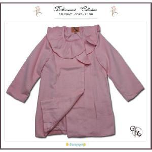 子ども服 Pコート ピンク 子供服 フォーマルに映えるフリル襟英国テイストのAライン(JPBt) 優雅な気品で魅せる 100-125cm|adorable