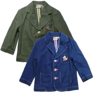 日々楽しみ 刺繍が可愛いポップカラージャケット(濠Du)子供服 インポート 85-110cm adorable