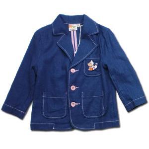 ジャケット 男の子 子供服 春夏 日々楽しみ 刺繍が可愛いポップカラー(濠Du)85cm 95cm 100cm 110cm|adorable|02
