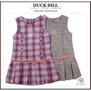 子ども服 キャンディーのような恋 ベロアリボン付きワンピース(濠Du)子供服 ピンクチェック 85cm|adorable