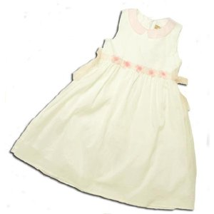 ワンピース 美しきジョイス フラットカラードレス ホワイト(濠Du)子供服 春夏 セール 白|adorable