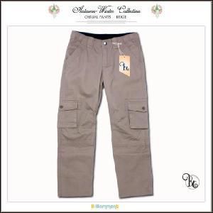 子ども服 子供服 春夏 セール アウトレット 綿100%柔らかな手触りのポケットいっぱいカーゴパンツ(JPBt)115 120 125cm 男の子 ベージュ|adorable