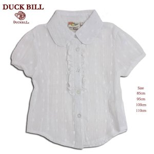 ブラウス 半袖シャツ 85cm ヘチマえり ホワイト 白(濠Du) 子供服 女の子 ベビー  春夏|adorable