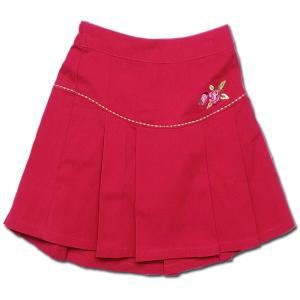 プリーツスカート ローズガーデン 鮮やかカラーの(濠Du) 子供 服 輸入ブランドこども服・100 110cm 春夏 クリアランスセール|adorable