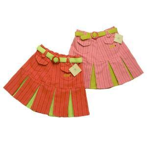 プリーツスカート バルセロナの令嬢ポップカラー(濠Du)春夏 クリアランスセール  子供 服 輸入ブランドこども服 100 110cm|adorable