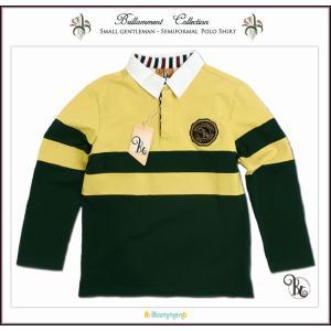 85-110cm 貴族紋章刺繍入り きちんと感ある粋なポロシャツ