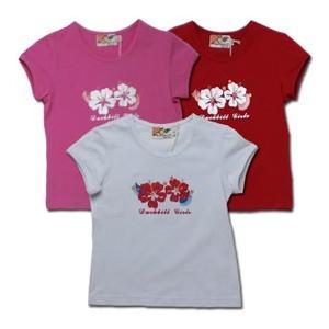 Tシャツ 雛菊 ハイビスカスの短袖 子供服・女の子100 110 115cm 春夏 クリアランスセール|adorable