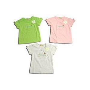 Tシャツ 活発な美少女 蝶々刺繍入りパブスリーブニット(濠Du)子供服女の子 115cm 5歳 春夏 クリアランスセール |adorable