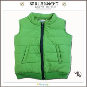 子ども服 アウトレット ワイルドに格好よく目立つ 節電冬あると便利綿入り暖かベスト グリーン(Bt)子供服 男の子 95cm-125cm|adorable