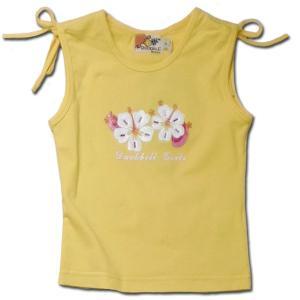 花柄 タンクトップ 子供服 春夏 セール 雛菊 肩紐 シャーリング 女の子 100cm adorable