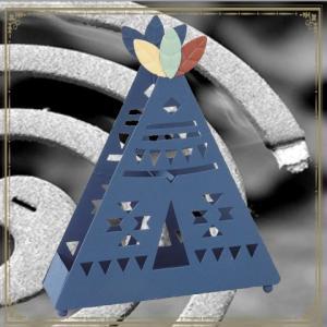 アイアン インテリア 蚊遣り TEEPEE 三角テント型 蚊取り線香ホルダー 蚊取り線香置き ティーピー|adoshop