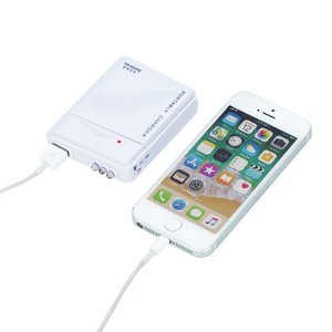 【USB充電器/乾電池式/ライト付き/防災グッズ/格安/ノベルティ/小ロット】 乾電池式USB充電器|ads