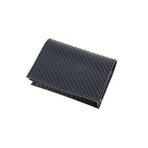 【カードケース/リサイクルレザー/格安/ノベルティ】 カーボンスタイル レザーカードケース|ads
