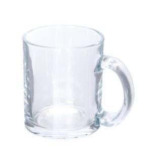 【グラスマグカップ/ノベルティ/格安/小ロット】 昇華転写対応グラスマグ(300ml)クリア|ads