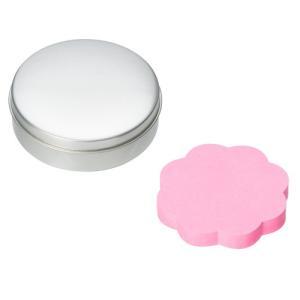 缶に入ったカワイイふせん♪  ふせんタイプは吹き出しタイプ(黄色)と花(ピンク)のどちらかをお選びい...