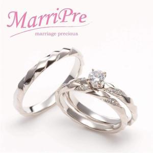 MarriPre   Innocent / 無邪気な心  メレDia 0.03ct  エンゲージリング pt900 ダイヤ0.3ctup|adtokyo