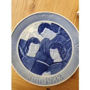 ロイヤルコペンハーゲン クリスマスイヤプレート 1922年 Three Singing Angels Porcelain 1922 FULL 「三人の歌う天使」|adtokyo