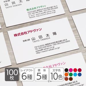 名刺作成 印刷 ビジネス オリジナル 100枚 超シンプル 横型 カラー テンプレートで簡単作成 初めてでも安心 b049 メール便送料無料|advan-printing