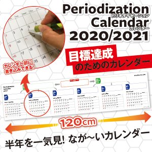 カレンダー2020 ピリオダイゼーションカレンダー 壁掛けワイドサイズ 120cmの大迫力 令和2年 年間 シンプル 壁掛け メール便配送可|advan-printing
