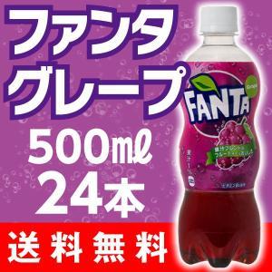 ファンタグレープ 500mlPET ペットボトル 1箱24本入 1ケース ジュース 送料無料|advan-printing
