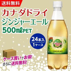 カナダドライジンジャエール 500mlPET ペットボトル 1箱24本入 1ケース  送料無料 コカコーラ|advan-printing