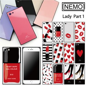 iPhone XR ケース iPhone XS ケース iPhone 11 ケース iPhone 11 Pro XS Max X 8 7 8Plus 7Plus ケース ガラス 四角 Lady NEMO|advan